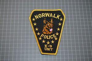 Norwalk Connecticut Police K9 Unit Patch (B17-R)