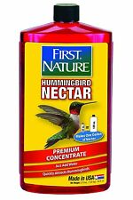 First Nature 3054 Red Hummingbird Nectar, 32 Oz Concentrate Makes 1 Gallon Feed