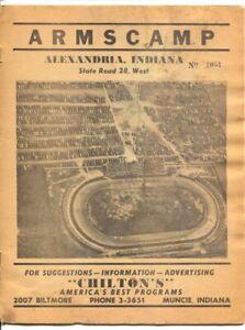 Armscamp Speedway Midget Auto Race Program 1948-aeril view of track photo cov...