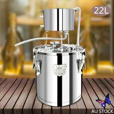22L Home Moonshine Still DIY Whisky Wine Water Vodka Distiller Oil Brew Kits AU