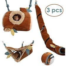 JanYoo Hamster Hammock Cage Accessories Hanging Fleece Bed Swing Bag Sugar Pig