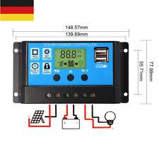 DE~ 12V/24V 30A LCD Solar Laderegler Solarregler Solarpanel Controller Regulator
