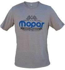 New Mopar American Muscle Checkered Flag Tee Shirt Short Sleeve Large