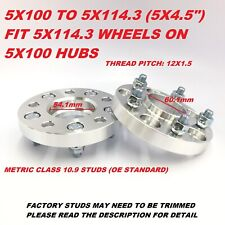 2pc 15mm Wheel Adapters Spacers 5X100 to 5X114.3 Hubcentric | 54.1 to 60.1 Bore