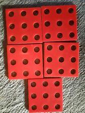 Holzspielzeug BAUFIX Ersatzteile 5x 9er Platten