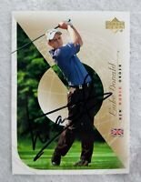 2003 Luke Donald PGA Tour Upper Deck New World Order Autograph Signed Card #83