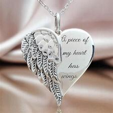 Fashion Heart Wings Stainless Steel Pendant Necklace Choker Women JewelrV ks
