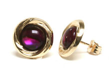 9ct Gold Pink Abalone Paua Shell Studs earrings Made in UK Gift Boxed