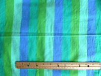 Fabric Traditions  Stripes in Blue Aqua Lime Turquoise    2 1/2 Yd