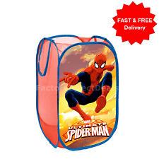 SPIDERMAN POP UP mesh ostacolare CESTO PER BIANCHERIA BORSA BIN ordinata Storage Toy kids boy