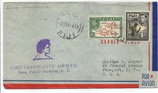 Fiji 1941 PRIMO VOLO transpacific per Auckland, Nuova Zelanda.. scarse sg254