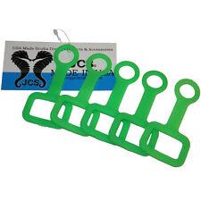 Rubber Regulator Octopus (Octo) Holder, Green, (5 Pack)