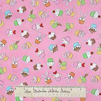 Bake Fabric - Cupckae Toss Pink Baking C9990 - Timeless Treasures Cotton YARD