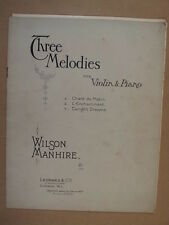 Violín Wilson Manhire tres Melodías