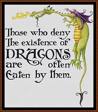 Cross Stitch Chart ( Pattern ) - DRAGON LORE *CD Delivery*