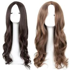 Womens Long Curly Wavy Hair Heat Resistant Wig Synthetic Hair Cosplay Full, 2018