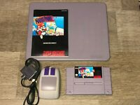Mario Paint w/Mouse & Pad & Manual Super Nintendo Snes Excellent Cond Authentic