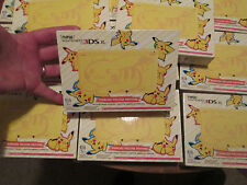 New Nintendo 3DS XL POKEMON Pikachu Yellow Edition CONSOLE WORKS w/ AMIIBO RARE