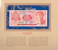 Most Treasured Banknotes Honduras 1 Lempira 1984 P 68b UNC Prefix BM
