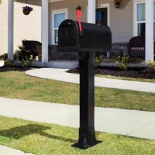 Black Mailbox Post Callaway Adjustable, Aluminum, Top Mount, Heavy Duty NEW