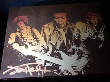 Vandor Llc Authentic Jimi Hendrix Stretched Canvas Hanging Picture guitar music