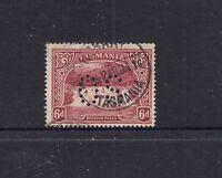 TASMANIA: 1899-1900 6d Lake Pictorial Perf 14 SG 236 Perf OS, fine used.