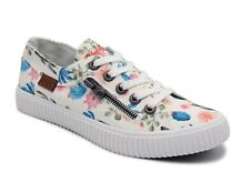 Blowfish NEW Coyote White Prickly Print floral cactus canvas trainers UK 3-8