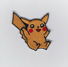 PIKACHU POKEMON JAPANESE MANGA Anime Iron on Patches/Sew On/Applique/Embroidered