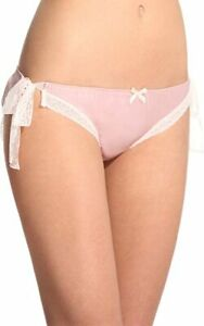 Fifi Chachnil 'Fabuleuse' Tie Side Culottes Knickers Powder Rose Pink Silk Satin