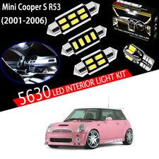 15 Light Super White 5630 LED Interior Light Kit For MINI Cooper S R53 2001-2006