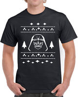 358 Vader Ugly Christmas Sweater mens T-shirt darth star geek nerd wars present