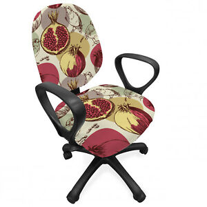 Ambesonne Floral Foliage Office Chair Slipcover Protective Stretch Cover