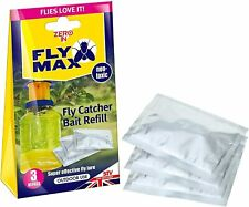 More details for zero in fly max fly trap catcher bottle bait refills (3 x 4g) super effective