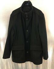 Boss Hugo Boss Coxon Coat Jacket Black Virgin Wool Cashmere Mens Sz 46R