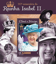 Sao Tome & Principe 2016 MNH Queen Elizabeth II 90th Bday 1v S/S Royalty Stamps