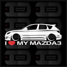 I Heart My Mazda 3 Sticker Love Slammed JDM Japan Speed Low Stance Hatch BK Gen1