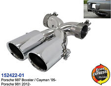 Exhaust Tailpipes Stainless Steel for Porsche 987 Boxster Cayman '05-