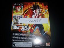 Dragonball Xenoverse XV DLC Day-One CODE Super Saiyan 4 & 2 Frieza Suits PS3