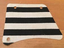 LEGO sailbb01 @@ Cloth Sail 9 x 11, 3 Holes Black Stripes Pattern 6262 6278 6292