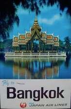JAPAN AIRLINES BANGKOK THAILAND SUMMER PALACE 1964 Vintage Travel poster 25x39
