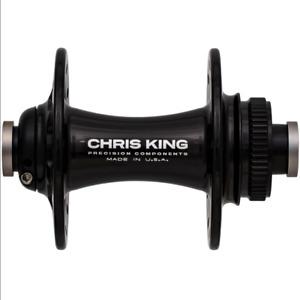 Chris King R45D Front Centrelock Road Hub, 24h, Gloss Black, 12*100mm Thru Axle