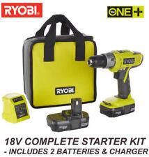 Ryobi One Plus + 18V Combi Hammer Drill inc 2 x li-ion batts