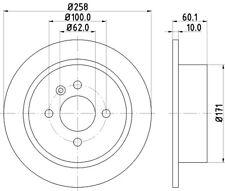 Rear Brake Disc [BDC3288] To Fit A BMW 3 Series (E30) 1982 > 1992