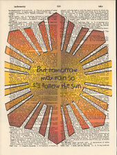 Beatles I'll Follow the Sun Altered Art Print Upcycled Vintage Dictionary Page