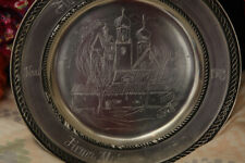 More details for german hand made tin plate by the tin foundry guild & engraved by raible in 1983
