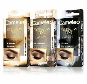 Delia Cameleo Cream Henna Eyebrow Tint Black Brown Eyelash Dye Lash Kit Set 15ml