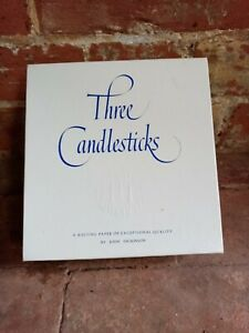 "THREE CANDLESTICKS 100 ENVELOPES ""CASPIAN BLUE"""