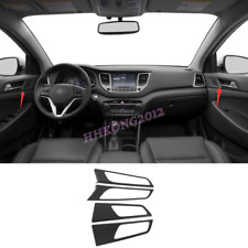 For Hyundai Tucson 2016 2017 2018 ABS Carbon Style Interior Handle Cover Trim