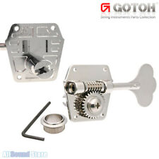 NEW GOTOH Reverse Wind Bass Tuners Keys w/ Torque Adjustment & Flat Back- NICKEL
