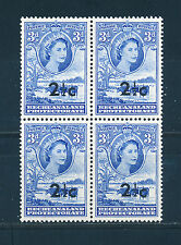 BECHUANALAND 1961 DEFINITIVES SG160 2½c (OPT) BLOCK OF 4 MNH
